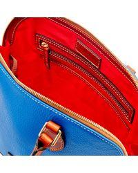 Dooney & Bourke - Blue Pebble Grain Zip Zip Satchel - Lyst