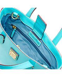 Dooney & Bourke - Blue Patent Mini Waverly Top Handle Bag - Lyst