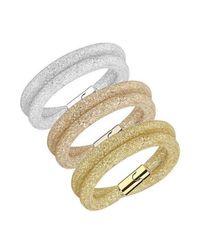 Swarovski - Metallic 5184989 Stardust Deluxe Bracelet Set - Lyst