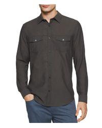Calvin Klein - Black Double Pocket Button Up Shirt for Men - Lyst