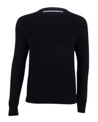 Tommy Hilfiger - Black Prescott Textured Pique Sweater for Men - Lyst
