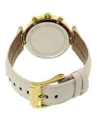 Michael Kors - White Sawyer Gold Dial Watch Mk2528 - Lyst