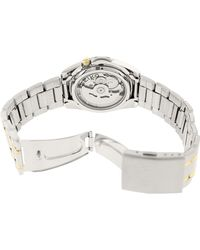 Seiko - Multicolor Snkl47k White Stainless-steel Automatic Fashion Watch - Lyst