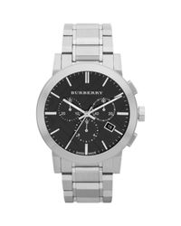 Burberry - Metallic Brushed Stainless Steel Chronograph Watch for Men - Lyst