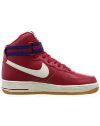 dadaca31e55 Lyst - Nike Mens Air Force 1 High '07 Gym Red/slate-deep Royal ...