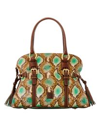 Dooney & Bourke | Green City Python Domed Buckle Satchel | Lyst