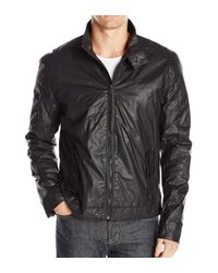 Calvin Klein - Black Jeans Track Biker Jacket for Men - Lyst