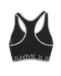Under Armour | Heat Gear Mid Impact Armour Bra Removable Cups Black Large 1250132 | Lyst