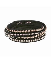 Swarovski - Slake Black Deluxe Bracelet - Lyst