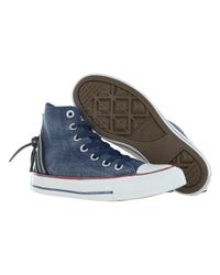 Converse - Blue Chuck Taylor All Star Tri Zip Sparkle Shoes Size 9 for Men - Lyst