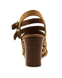 Lauren by Ralph Lauren - Brown Aleigh Women Us 10 Tan Wedge Sandal - Lyst