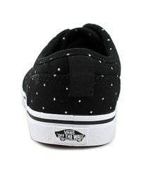 Vans - Atwood Low Slip-o Youth Us 1 Black Sneakers - Lyst