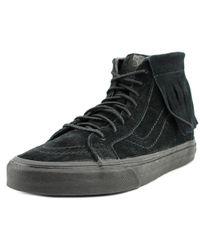 Vans - Sk8 Hi Moc Women Us 6.5 Black Sneakers - Lyst