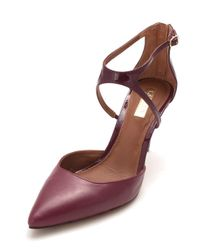 Lauren by Ralph Lauren - Purple Lauren By Ralph Lauren Kabira Leather Pointed Toe Ankle Strap Classic ... - Lyst