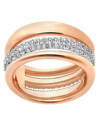 Swarovski - Metallic Exact Ring - Lyst