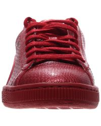 PUMA - Red Basket Future Minimal Casual Shoes - Lyst