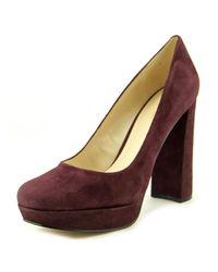 Nine West - Multicolor Delay Women Us 10.5 Burgundy Heels - Lyst