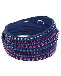 Swarovski | Blue Slake Dlx Bracelet | Lyst