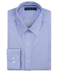 Tommy Hilfiger - Striped Button Up Dress Shirt Blue 14 1/2 for Men - Lyst