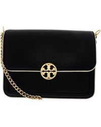 Tory Burch - Black Duet Chain Convertible Leather Shoulder Bag - Lyst