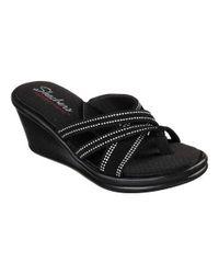 25ad74e86cf5 Lyst - Skechers Rumblers Cali Spell Wedge Sandal in Black