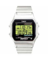 2ac44e9b2 Lyst - Timex Classic Digital Dress Chronograph Watch T78582 T785829j ...