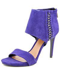 Vince Camuto | Freya Women Open-toe Suede Blue Heels | Lyst