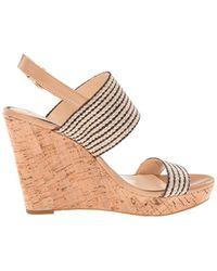 Women/'s Shoes Jessica Simpson JANIC Platform Wedge Sandal Cork Natural Black