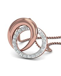 Diamoire Jewels - Metallic Inspired By Nature 18kt Rose Gold Pave Pendant Handmade With Top Quality Diamonds - Lyst