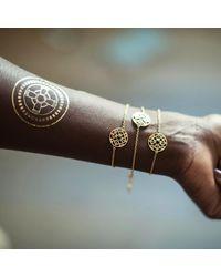Silatha - Fine Jewellery & Meditation | Metallic The Anchor Of Strength Rose Gold Bracelet | Lyst