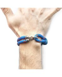 Anchor & Crew - Blue Great Yarmouth Silver And Rope Bracele for Men - Lyst
