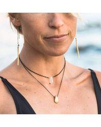Verve Jewelry - Metallic Sugar - All Gold-long Threader Earrings - Lyst