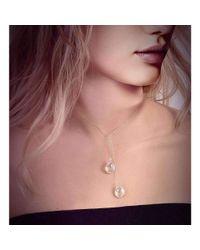 BCOUTURE - Multicolor White Topaz Accent Double Drop Short Necklace - Lyst