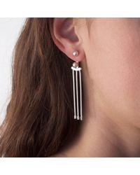 Cara Tonkin - Metallic Orbit Tassel Front & Back Earrings Gold - Lyst