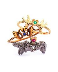 Matina Amanita - Metallic Swan Kiss Antique Ring - Lyst