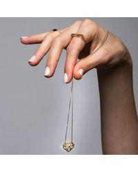 YAMA JEWELRY - Multicolor Heart Truss Necklace - Lyst