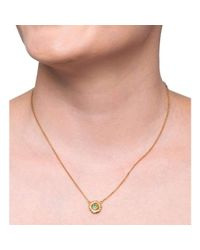 Susan Wheeler Design - Multicolor Large Pebble Necklace With Green Tsavorite And Diamonds - Lyst