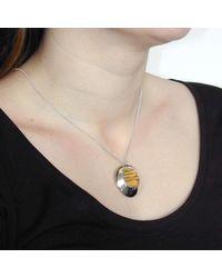 Emma Mogridge Jewellery - Metallic Circular Pebble Necklace - Lyst