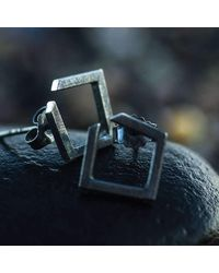 Ilda Design - Multicolor Square Oxidised Earrings - Lyst