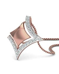 Diamoire Jewels - Metallic 14kt Rose Gold Diamond Pendant Inspired By Nature - Lyst