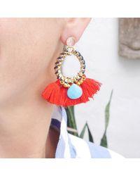 Clare Hynes - Red Martha Tassel Earrings - Lyst