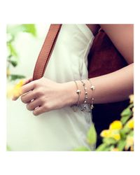 ROX - Diamonds and Thrills - Metallic Identity Sterling Silver Nugget Stud Bracelet - Lyst