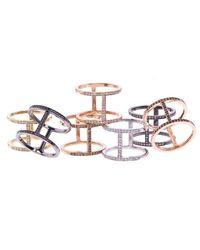 Alexa Leigh - Metallic Gold And Champagne Pave Diamond Elijo Ring - Lyst