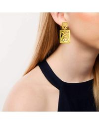 Alex Soldier - Metallic 18kt Gold Ornament Earrings With Contrast Texture - Lyst