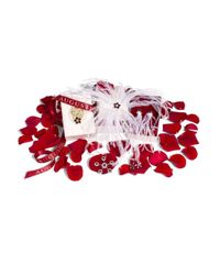 Augustine Jewels   Red Earrings Of Ostrich Feather And Garnet Hearts   Lyst