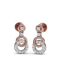 Diamoire Jewels - Metallic Sure-fire Polished 18kt Rose Gold Diamond Stud Earrings - Lyst