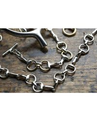 Hiho Silver - Metallic Classic Sterling Silver Snaffle Necklace - Lyst