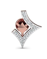 Diamoire Jewels Dazzling Pave Diamond Earrings in 18kt Rose Gold X30RLGdkMk