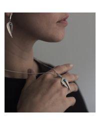Patience Jewellery - Metallic Fern Pearl Necklace - Lyst