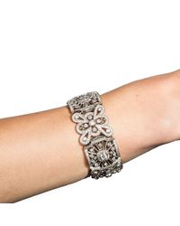 Katherine LeGrand Custom Goldsmith - Multicolor White Gold & Diamond Lace Queen Anne Bracelet | Katherine Legrand - Lyst